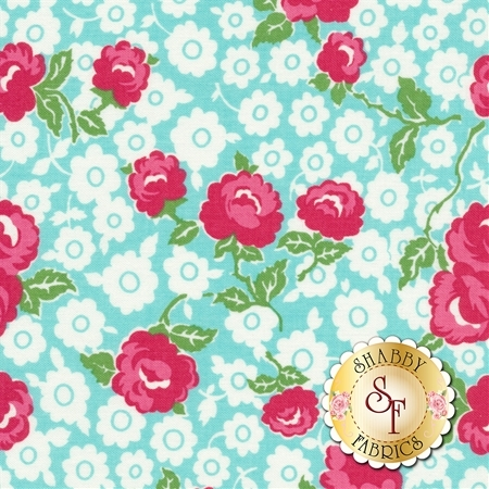 Dainty Darling C5850-AQUA by Riley Blake Designs REM