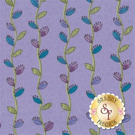 Daisy Dance Y1872-85 Periwinkle by Sue Zipkin for Clothworks Fabrics