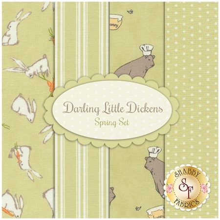 Darling Little Dickens  4 FQ Set - Spring Set by Lydia Nelson for Moda Fabrics