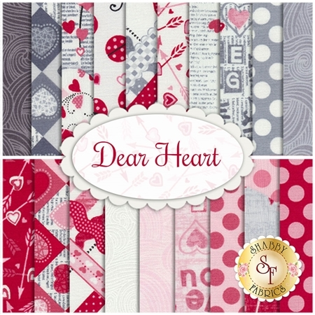 Dear Heart  19 FQ Set from Studio E Fabrics