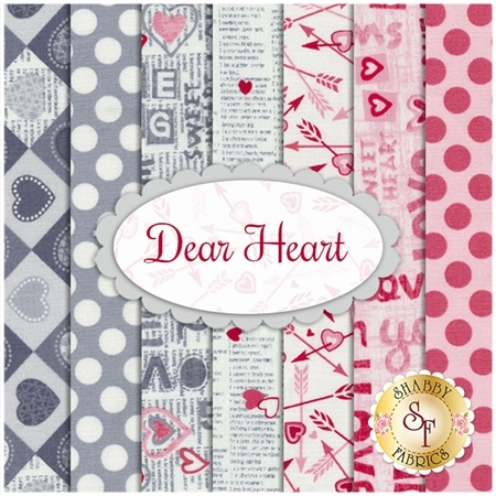 Dear Heart  7 FQ Set from Studio E Fabrics