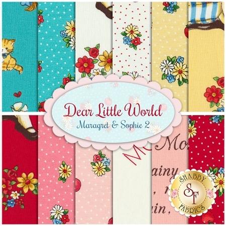 Dear Little World Margaret & Sophie  11 FQ & 1 Panel Set by Quilt Gate Fabrics