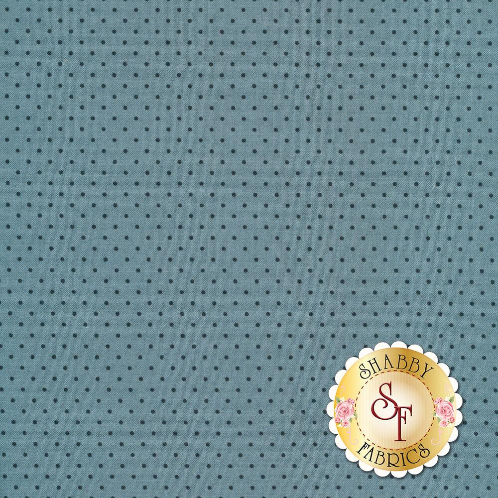 A light blue tonal fabric with small dark blue pin dots all over | Shabby Fabrics