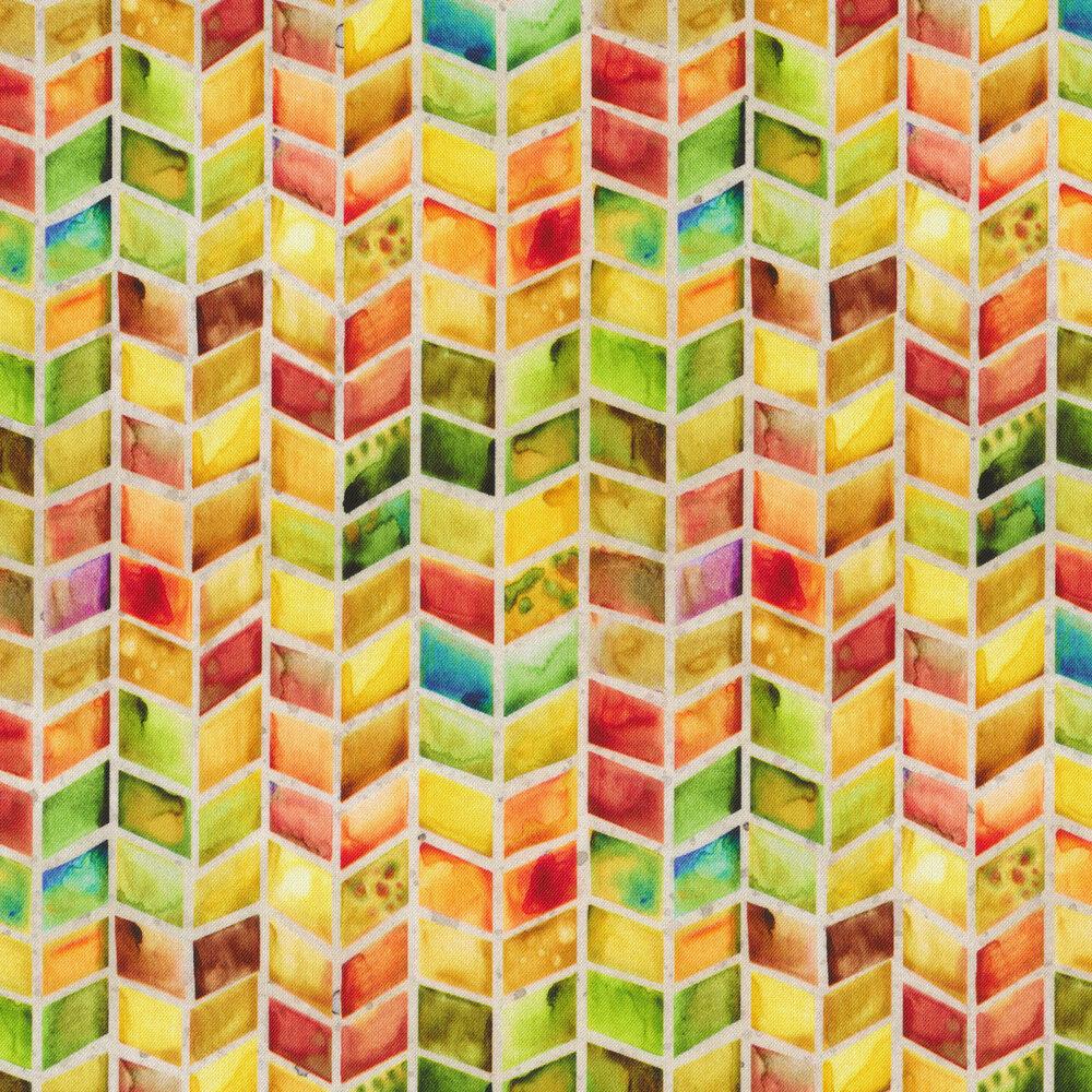 Watercolor geometric print | Shabby Fabrics