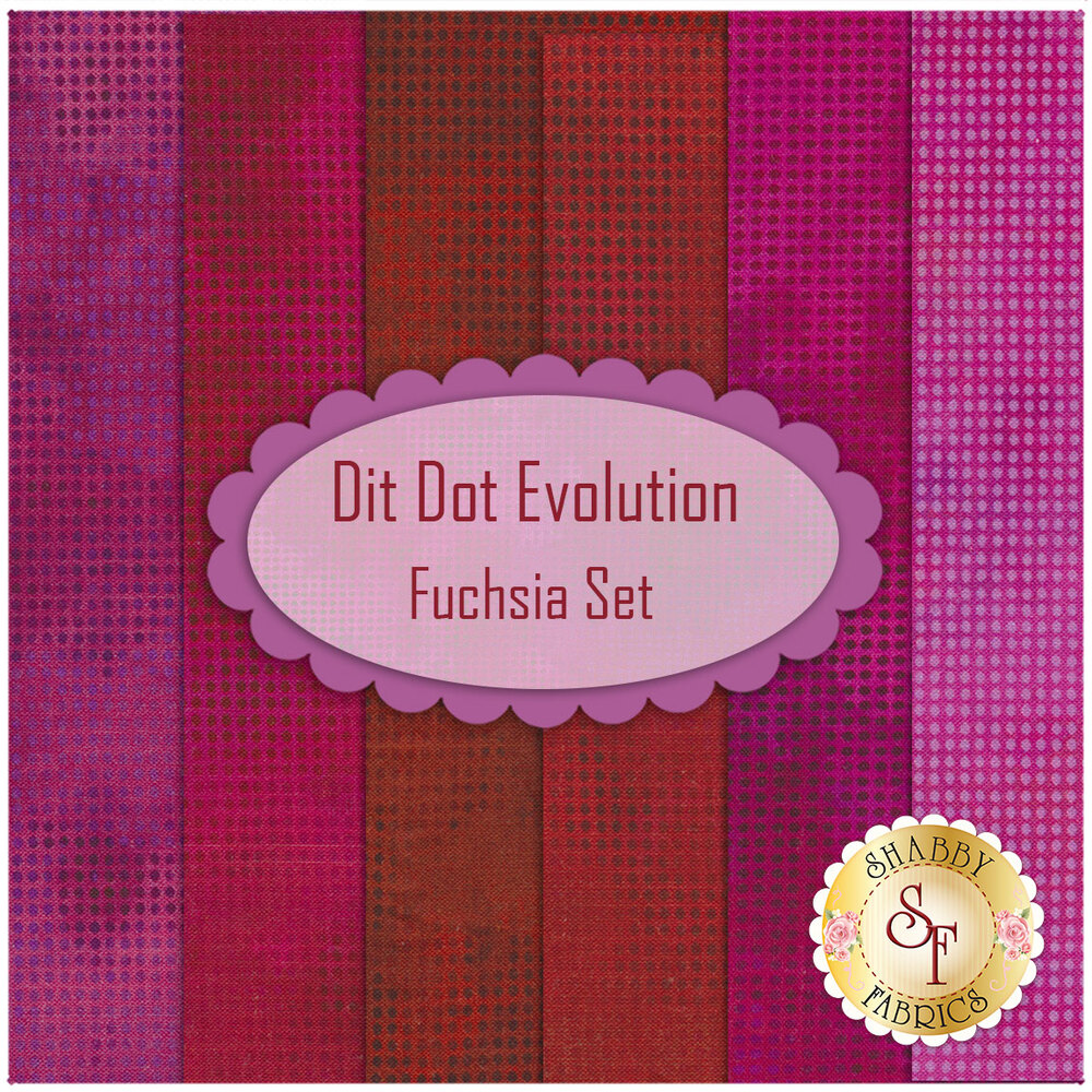 Dit Dot Evolution  6 FQ Set -  Fuchsia Set by In The Beginning Fabrics available at Shabby Fabrics