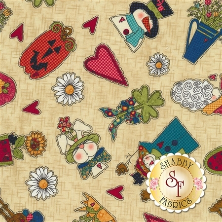 Doodle Days Calendar 8657-43 by Leanne Anderson for Henry Glass Fabrics