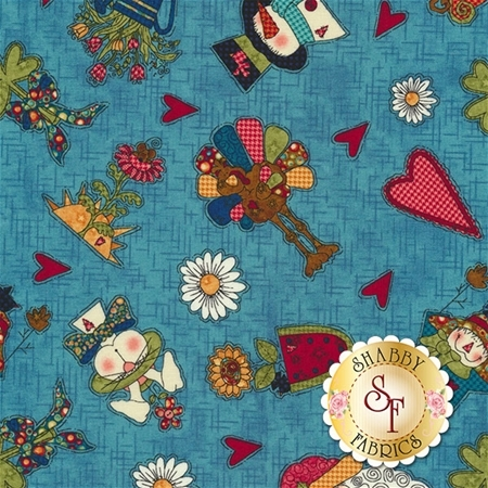 Doodle Days Calendar 8657-77 by Leanne Anderson for Henry Glass Fabrics