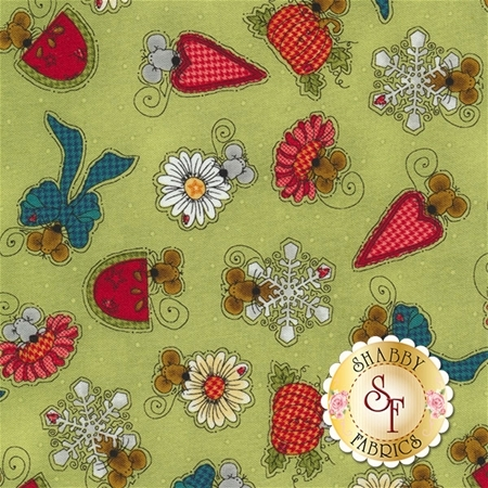 Doodle Days Calendar 8661-66 by Leanne Anderson for Henry Glass Fabrics