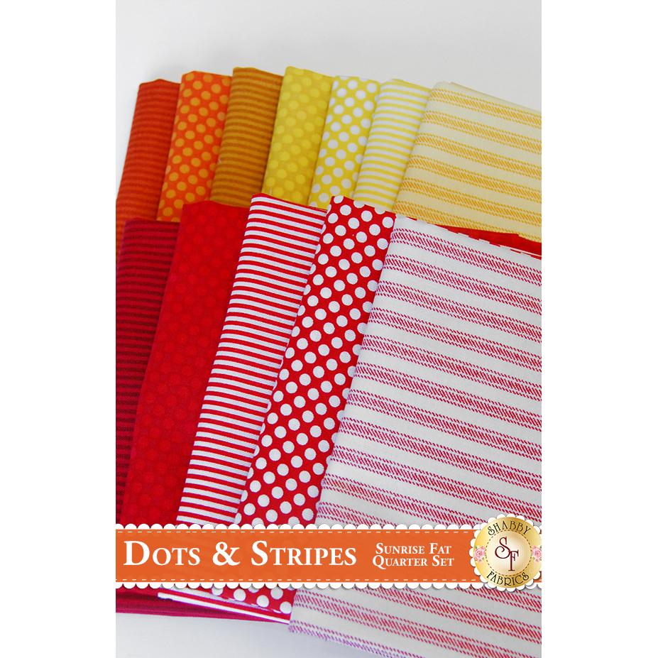Dots And Stripes 12 FQ Set - Sunrise Set by RJR Fabrics
