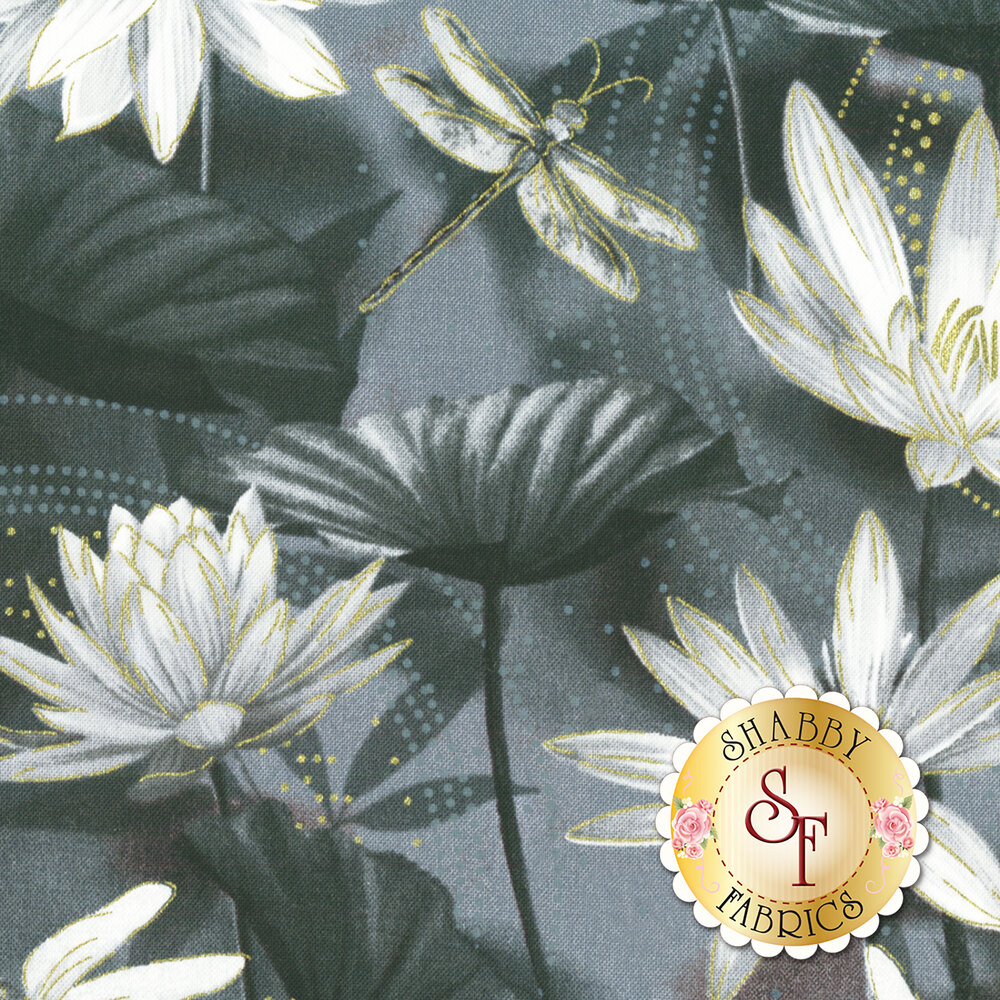 Dragonfly Dance 8499M-99 Waterlily Pool Black/Gray
