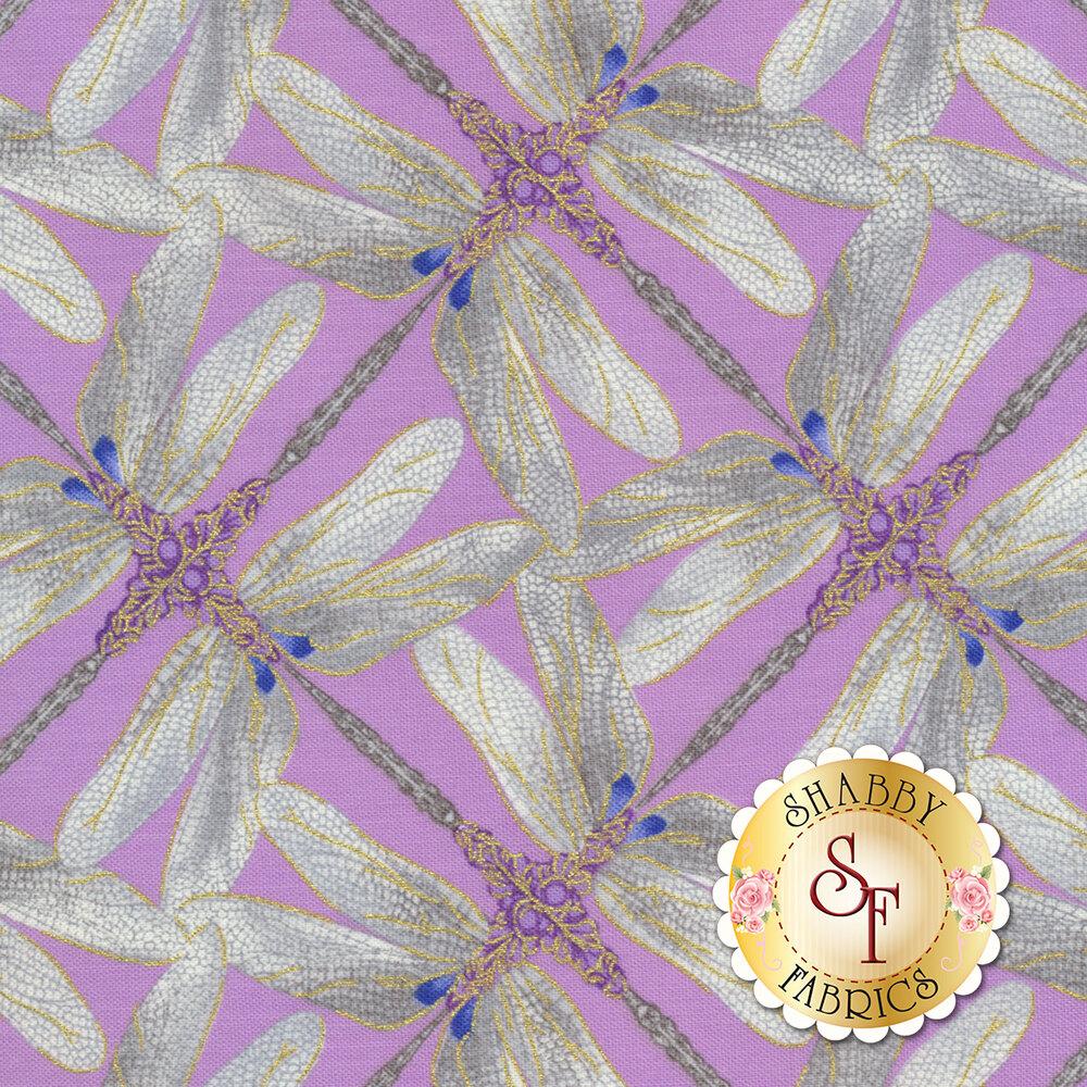 Dragonfly Dance 8502M-61 Pinwheel Geo Lavender/Gray
