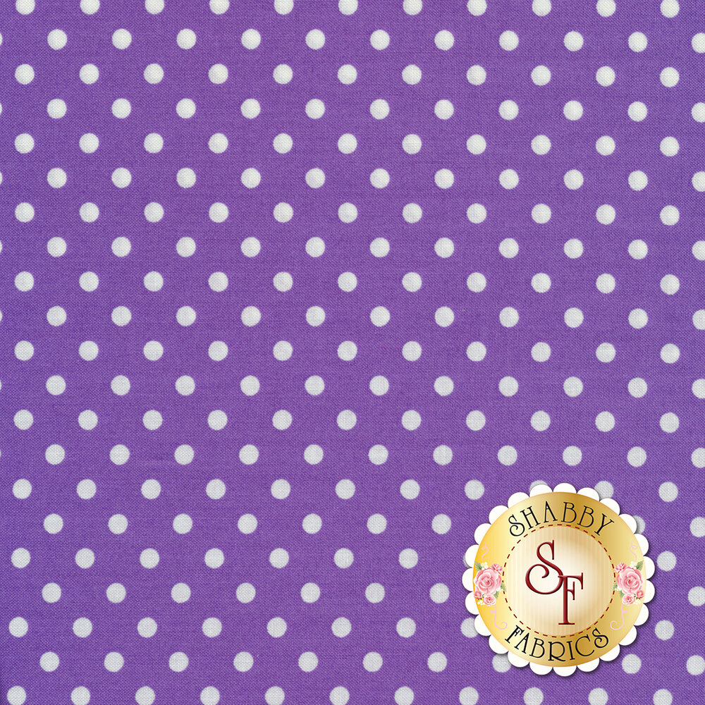 Dumb Dot CX2490-VIOL by Michael Miller Fabrics at Shabby Fabrics