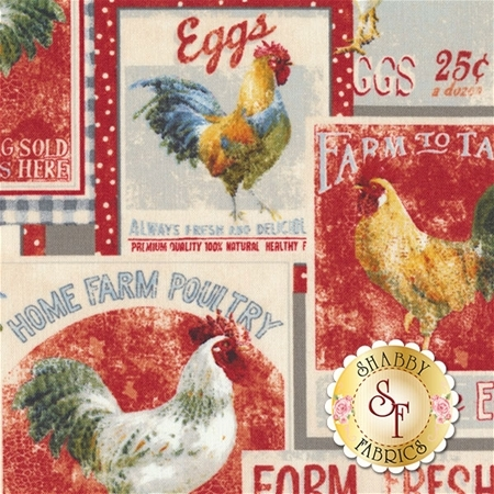Early To Rise 89156-395 Packed Label Multi by Danhui Nai for Wilmington Prints