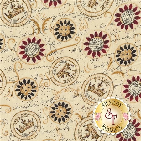 Elegant Roosters Y1714-57 by Dan DiPaolo for Clothworks Fabrics