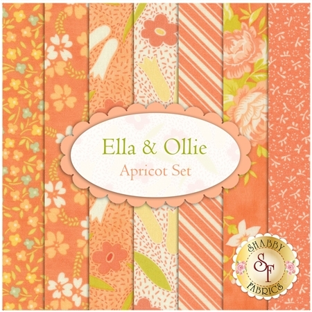 Ella & Ollie  7 FQ Set - Apricot Set by Fig Tree & Co. for Moda Fabrics