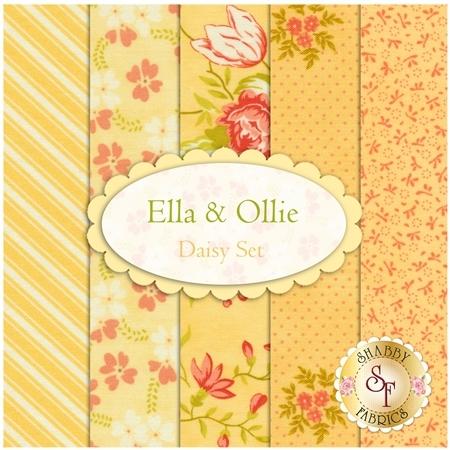 Ella & Ollie  5 FQ Set - Daisy Set by Fig Tree & Co. for Moda Fabrics