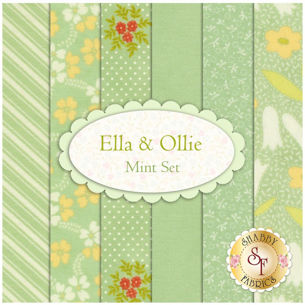 Ella & Ollie  6 FQ Set - Mint Set by Fig Tree & Co. for Moda Fabrics