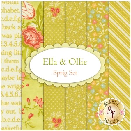 Ella & Ollie  6 FQ Set - Sprig Set by Fig Tree & Co. for Moda Fabrics