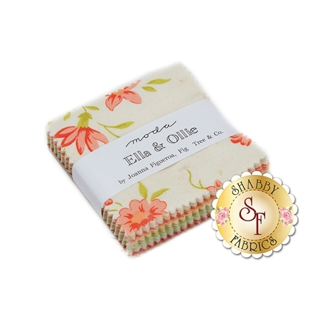 Ella & Ollie  Mini Charm Pack by Fig Tree & Co. for Moda Fabrics