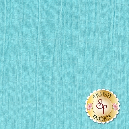 Embrace Bamboo Solids - Aqua Double Gauze from Shannon Fabrics