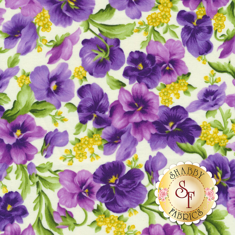 Emma's Garden 9170-E Picked Pansies by Debbie Beaves for Maywood Studio