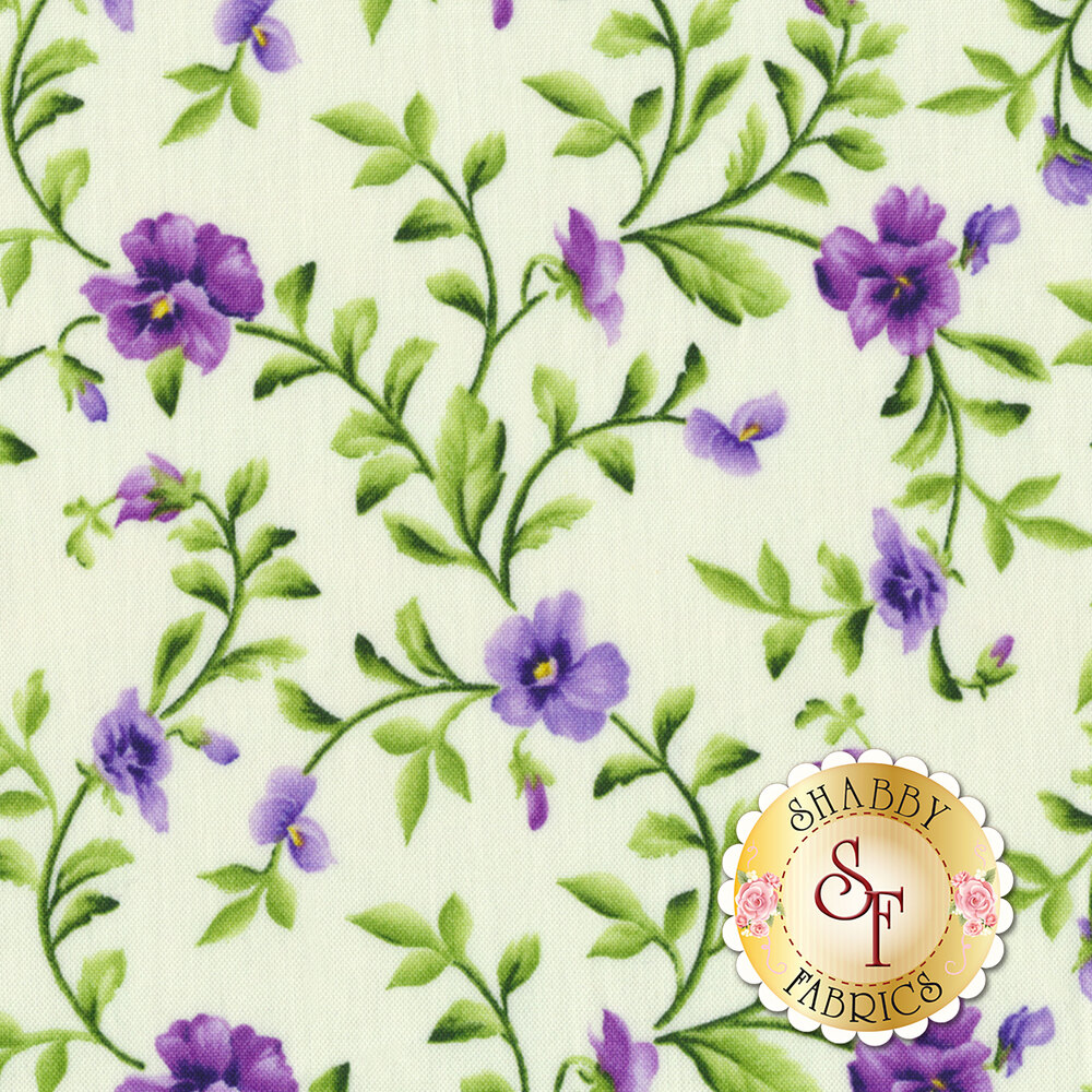 Emma's Garden 9173-E Trailing Pansy by Maywood Studio