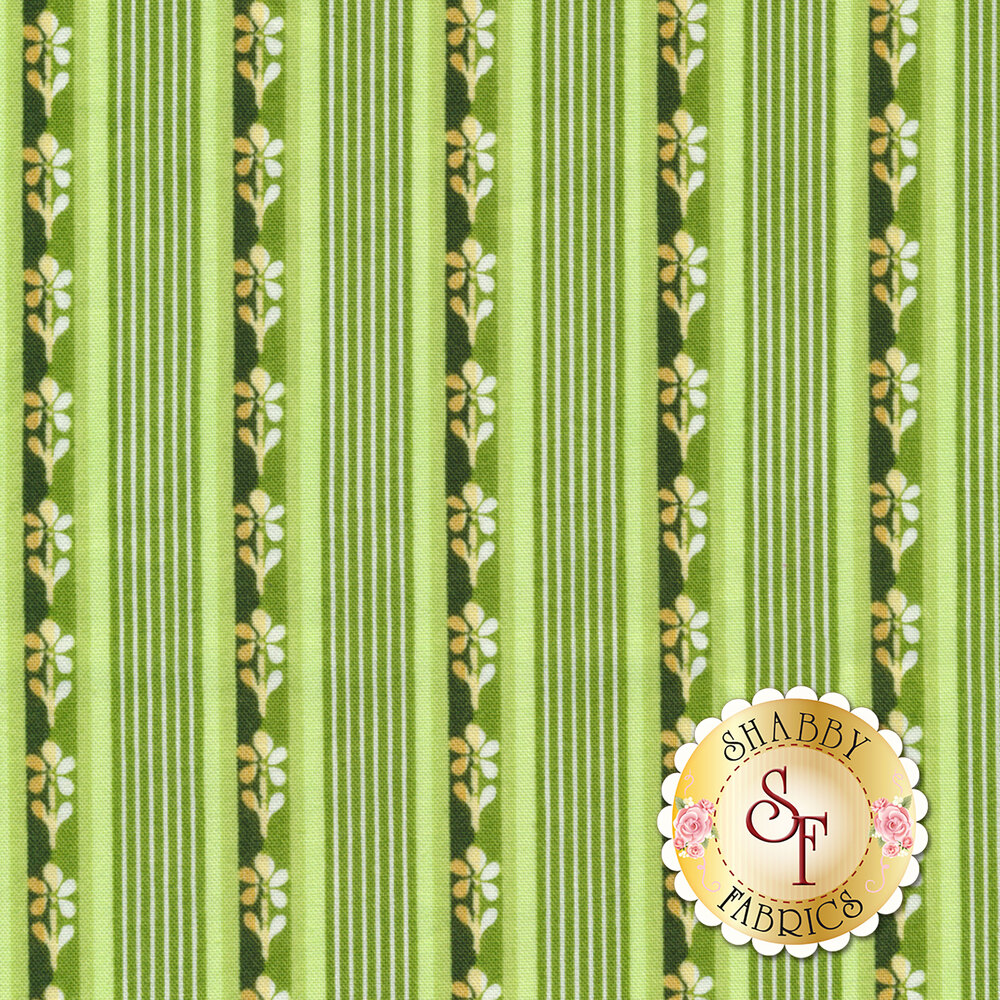 Emma's Garden 9174-G Little Stripe by Debbie Beaves for Maywood Studio