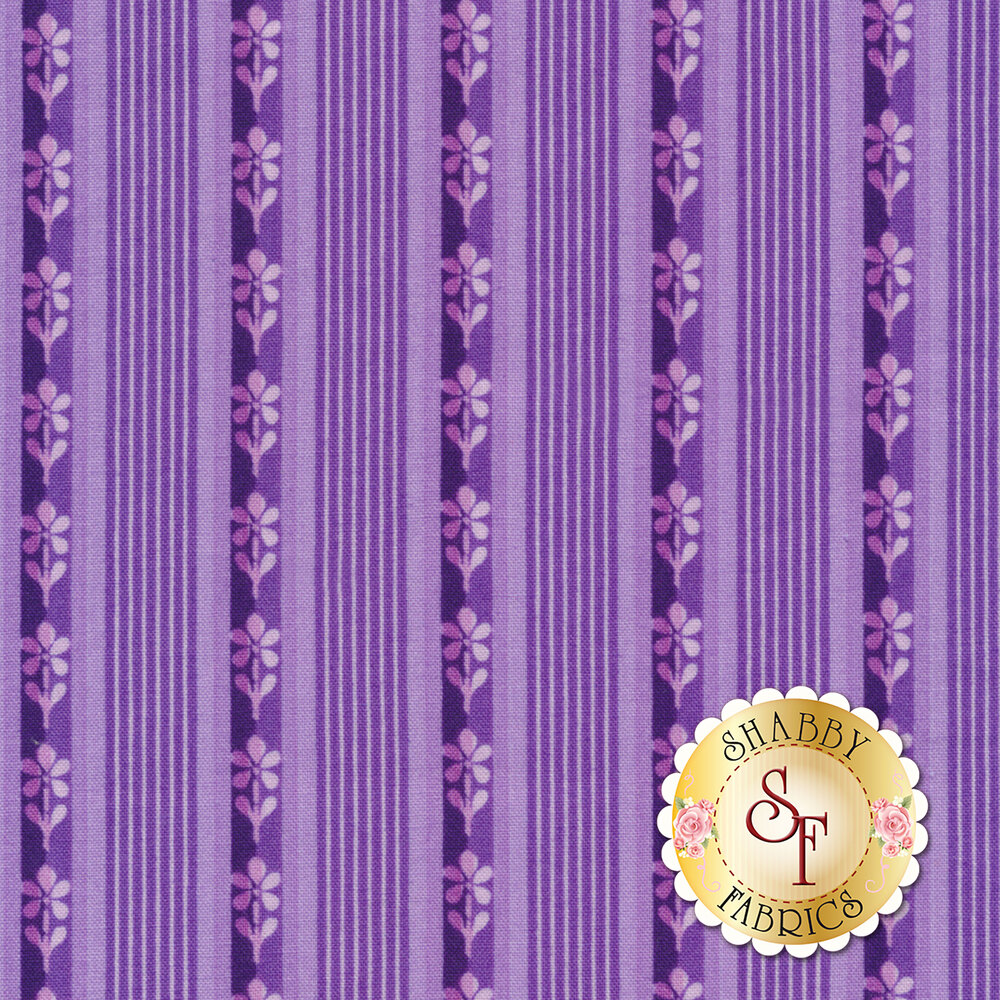Emma's Garden 9174-V Little Stripe by Debbie Beaves for Maywood Studio