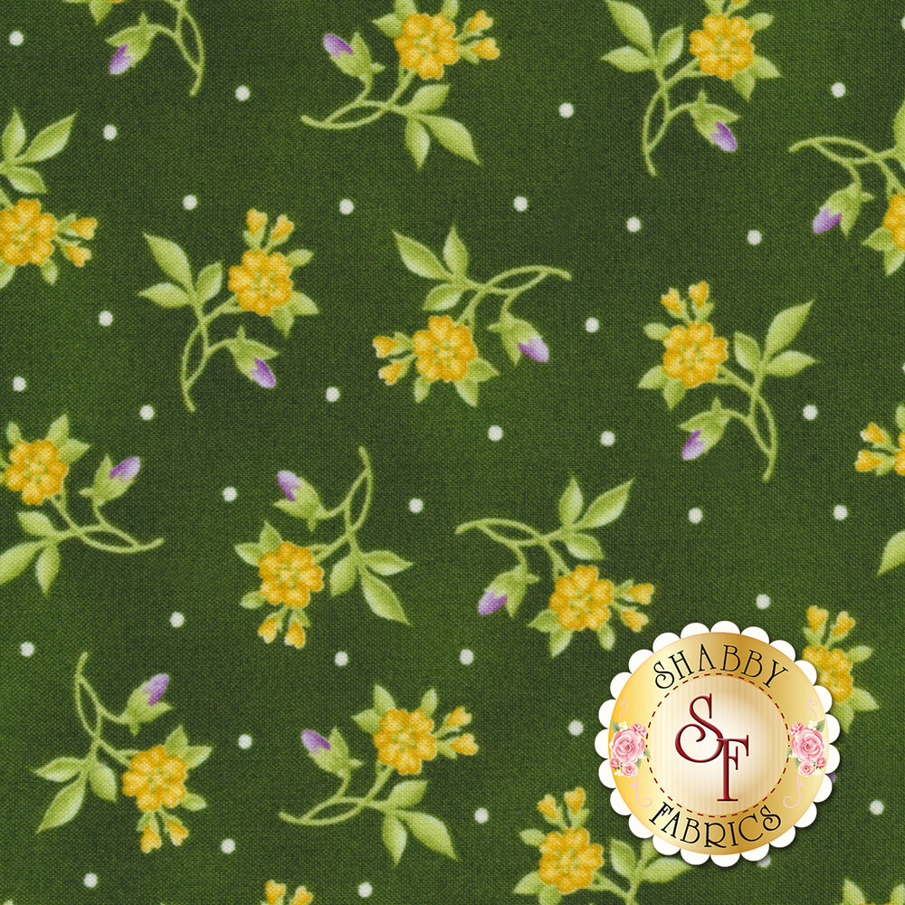 Emma's Garden 9178-G Little Flower by Debbie Beaves for Maywood Studio