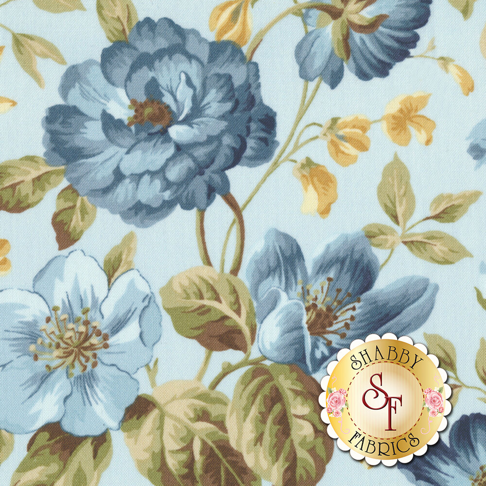 English Countryside 9160-B Focal Floral Light Blue by Maywood Studio