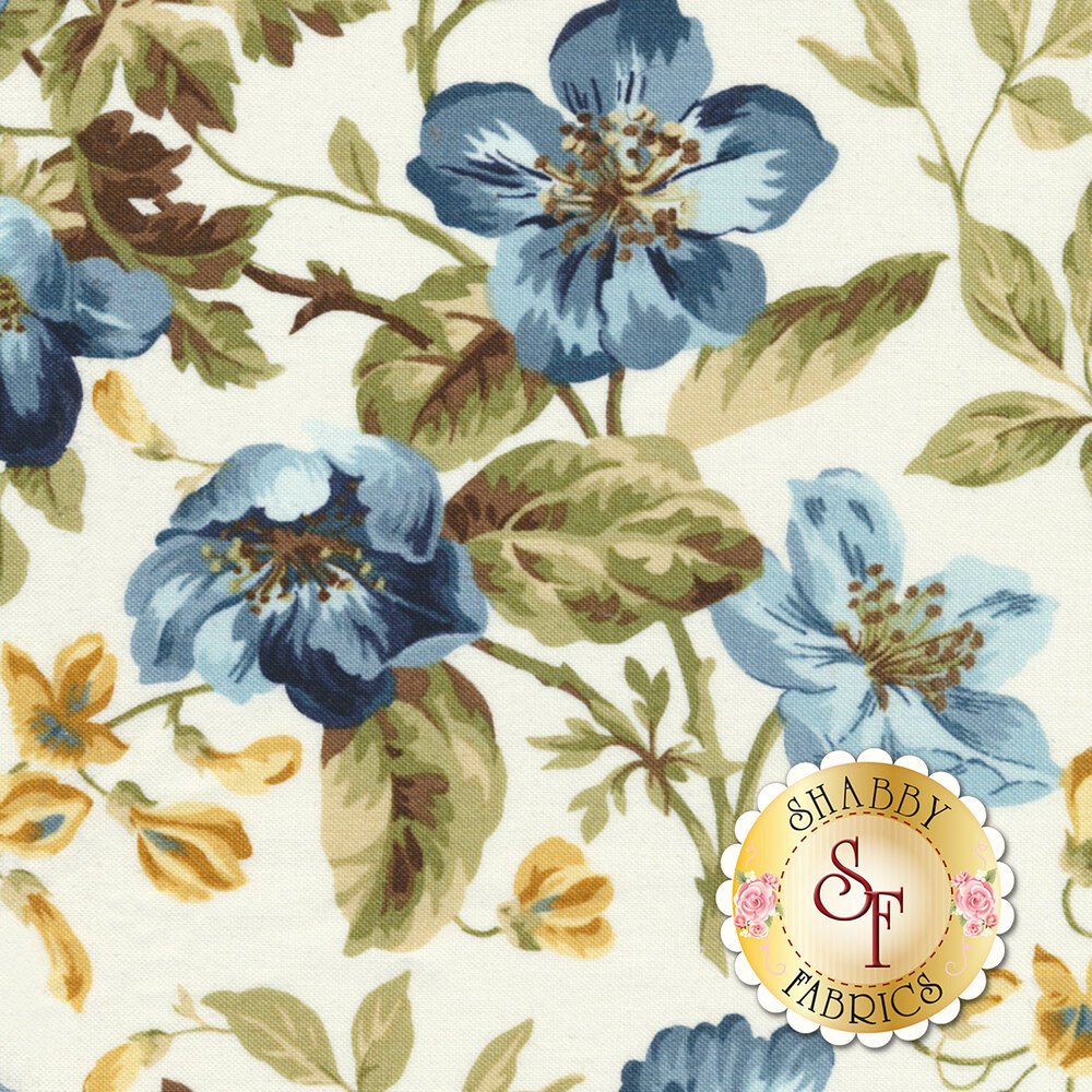 English Countryside 9160-E Focal Floral Natural by Maywood Studio