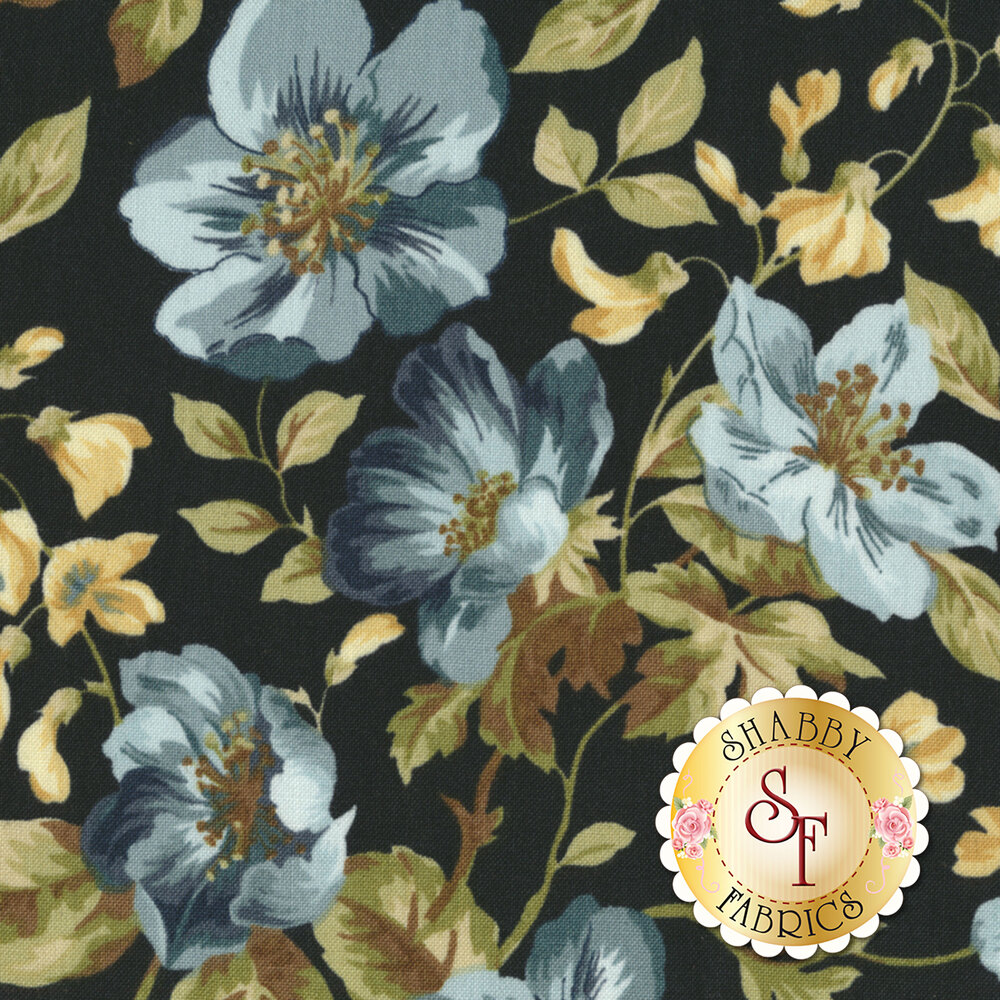 English Countryside 9160-N Focal Floral Navy by Maywood Studio