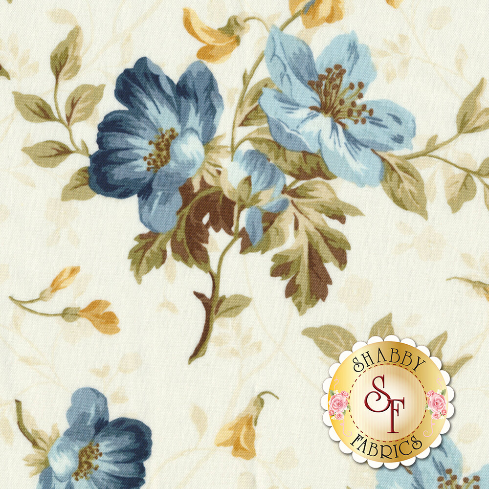 English Countryside 9161-E Spaced Floral Natural by Maywood Studio