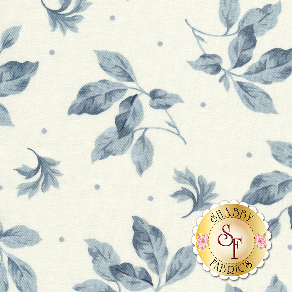 English Countryside 9163-E Spaced Leaves White by Maywood Studio REM #1
