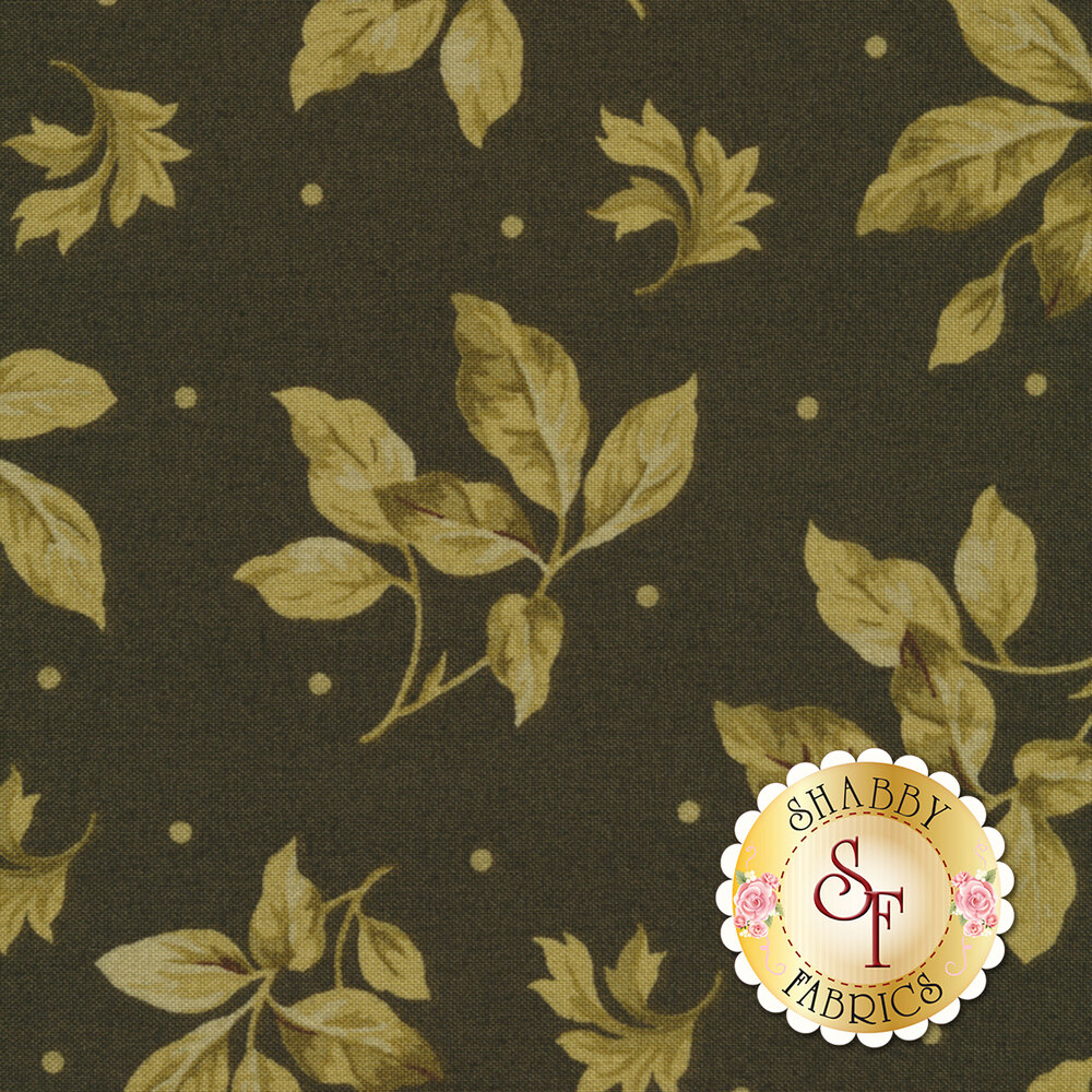 English Countryside 9163-G Spaced Leaves Green by Maywood Studio