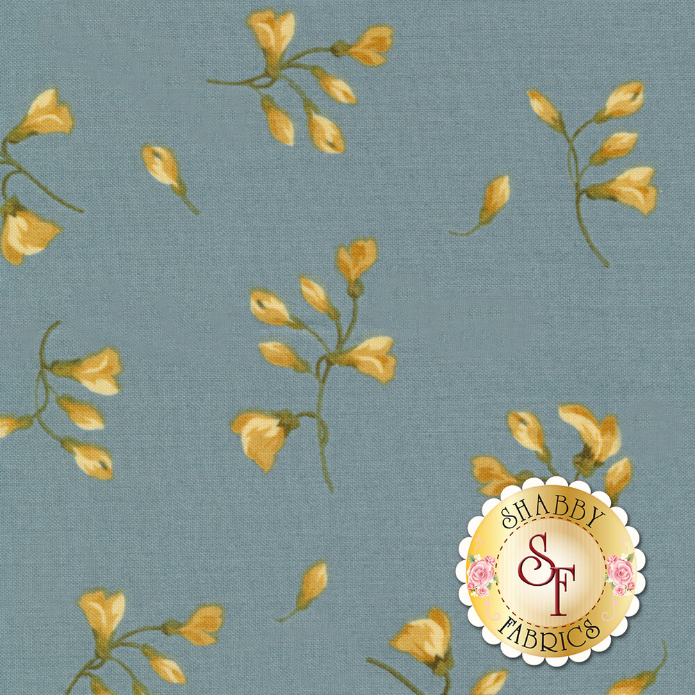 English Countryside 9165-B Spaced Buds Blue by Maywood Studio