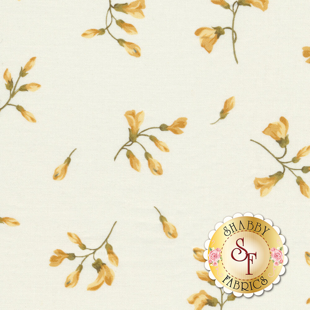English Countryside 9165-E Spaced Buds Natural by Maywood Studio