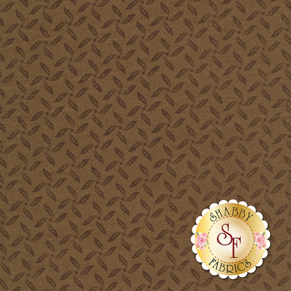English Countryside 9169-A Ditsy Pinwheels Soft Brown by Maywood Studio