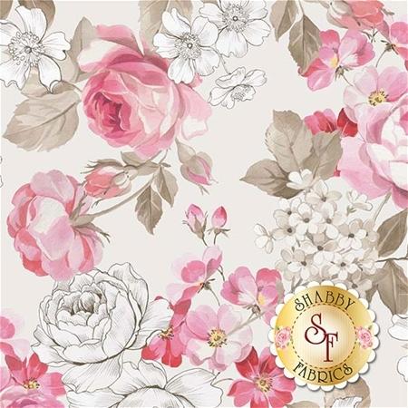 English Rose C6970-CREAM by Penny Rose Fabrics