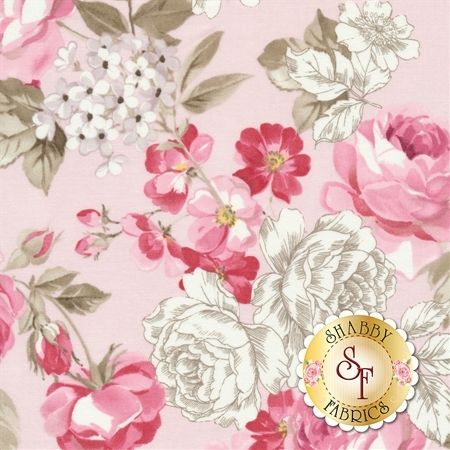 English Rose C6970-PINK by Penny Rose Fabrics