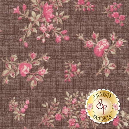English Rose C6971-BROWN by Penny Rose Fabrics