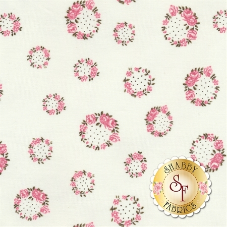 English Rose C6973-CREAM by Penny Rose Fabrics - REM