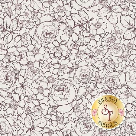 English Rose C6975-CREAM by Penny Rose Fabrics