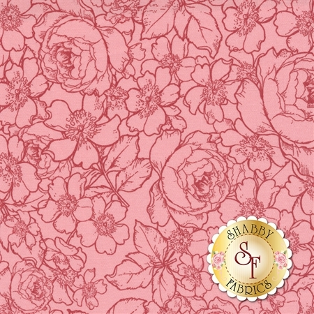 English Rose C6975-PINK by Penny Rose Fabrics