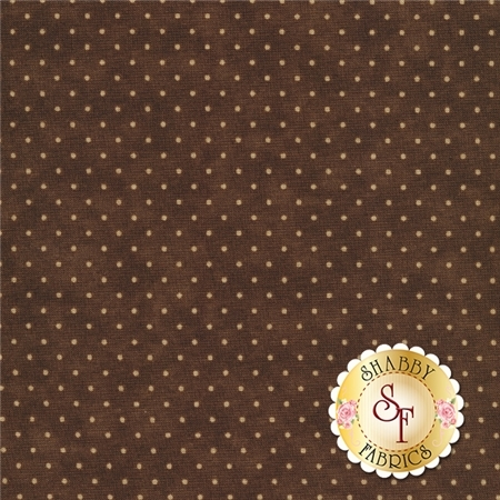 Moda Essential Dot 8654-45 Chocolate For Moda Fabrics