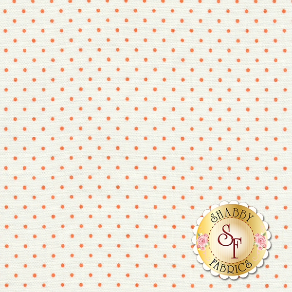 Moda Essential Dots 8654-67 White Tangerine For Moda Fabrics