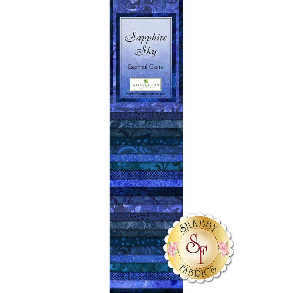 Essential Gems Precut Strips - Sapphire Sky