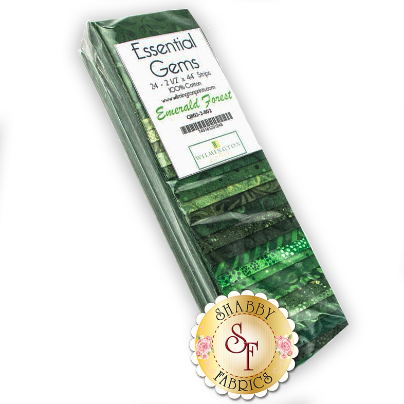 Essential Gems Precut Strips - Emerald Forest by Wilmington Prints