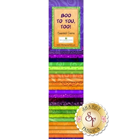 Essential Gems Precut Strips - Boo To You, Too by Wilmington Prints