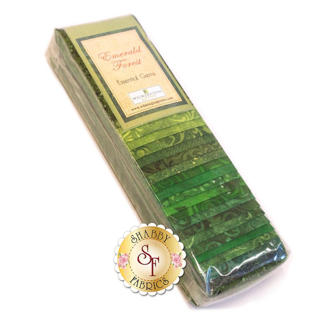 Essential Gems Precut Strips - Emerald Forest by Wilmington Prints